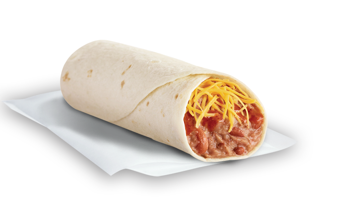 Bean Burrito Bean & cheese burrito. slow-cooked beans made from ...